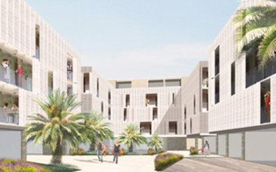 objekt na obali / seaside building complex